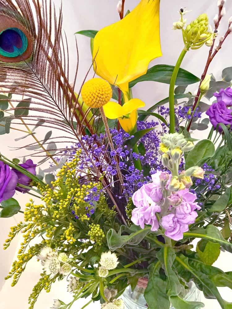 Veldboeket close up paars